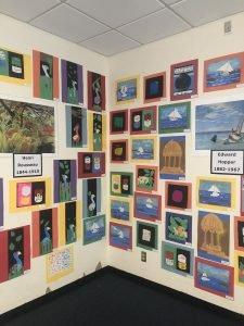 Artwalk wall of art
