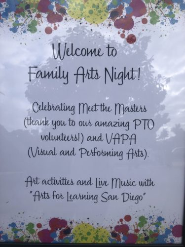 Welcome to Family Arts Night